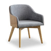 KESTER Arm Chair - Grey & Ash Wood