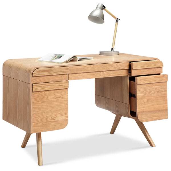 CELIO Study Desk with Storage 1.2M - Natural