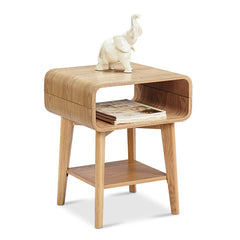 KAIA Bedside Side Table - Ash Veneer