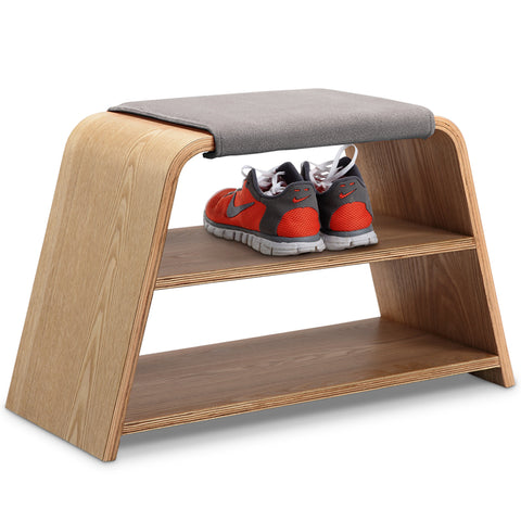 Leta Storage Bench Seat - 45cm - Ash + Grey