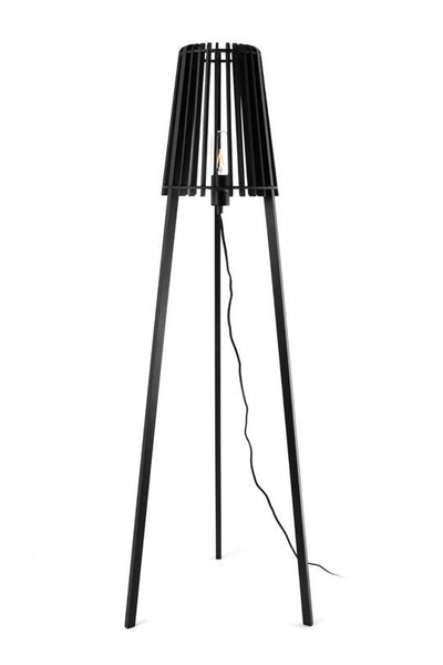 Fidel Timber Floor Lamp 1.3M - Black