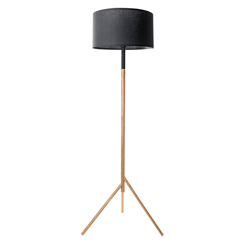 Woodi Floor Lamp - 150cm - Black + Oak