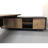 EASTON Executive Desk with Right Return 2.2M - Mahogany Black