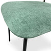 KELBY Dining Chair - Jade + Black