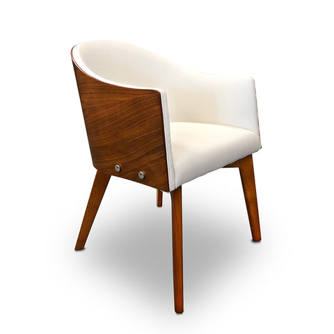 Ringo Office Lounge Chair - Cherry Ash & White
