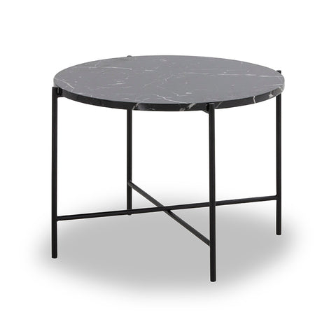 JADEN Side Table Large 60cm - Black & White