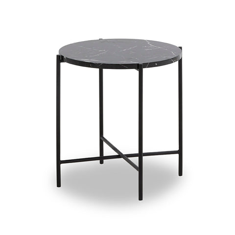 JADEN Side Table Small 45cm - Black & White