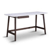 Katon Computer Desk - 140cm -  Matt White + Black