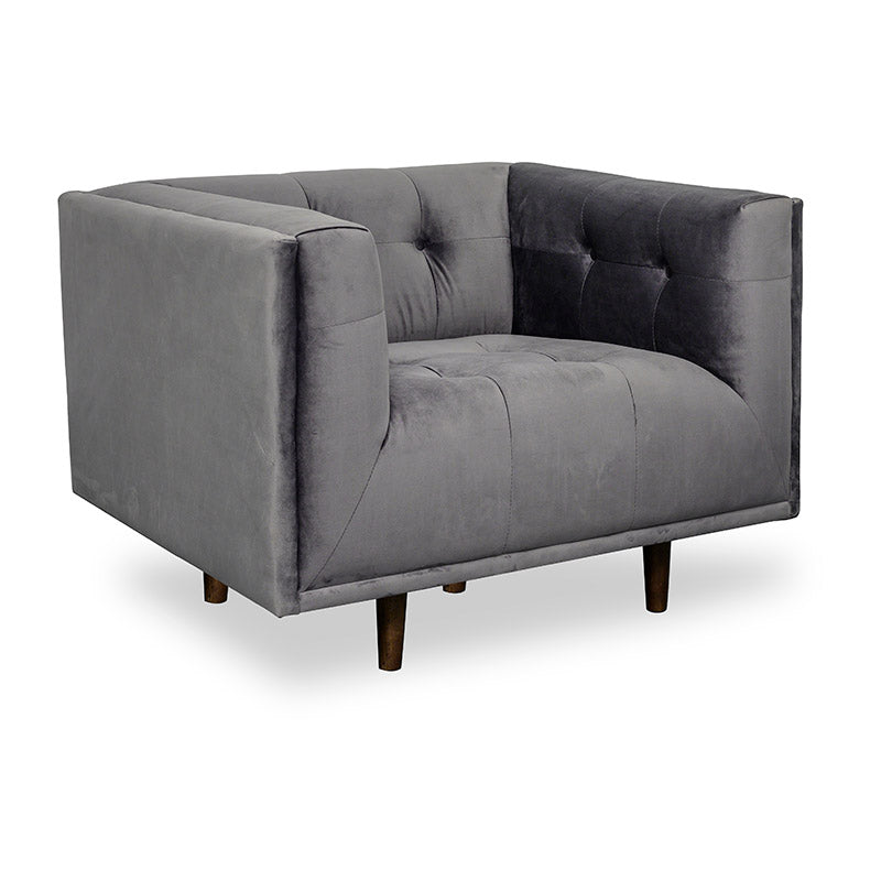 Taron Single Seater Sofa In Grey