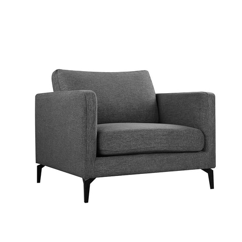 GIZI Single Seater Sofa - Dark Grey