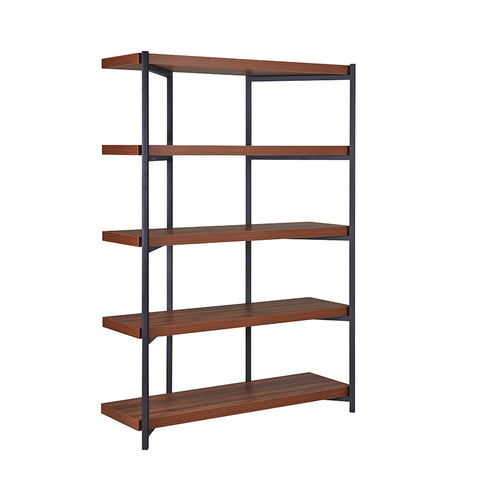 TOVE Display Unit Bookcase 119cm -  Walnut & Black