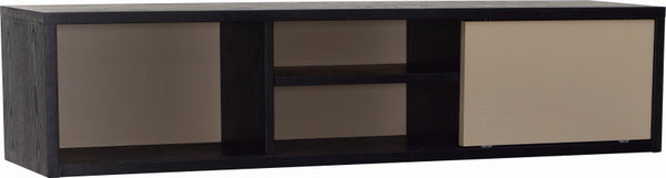 Mabon Storage Unit in Black & Taupe