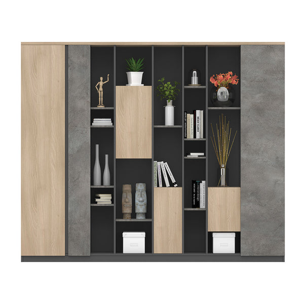 ASHTON Display Cabinet 2.348M - Acacia & Carbon Grey Colour
