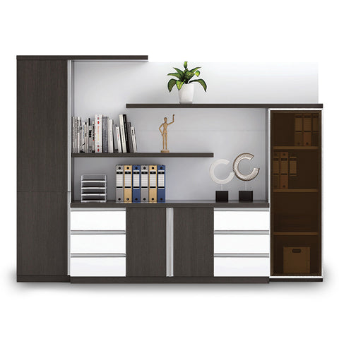 Maverick Display Cabinet - 280 x 208cm - Black + White