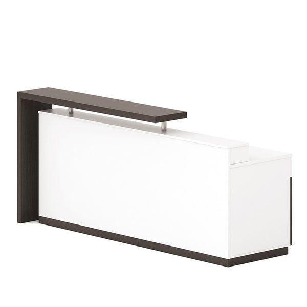 Jett Reception Desk  with Cabinets 1.8M - White & Black