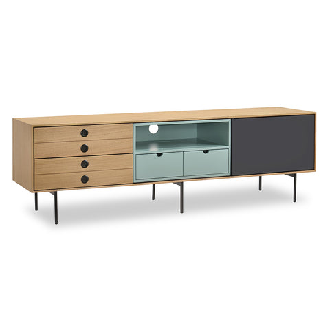 OSCAR TV Entertainment Unit 170cm - White Oak