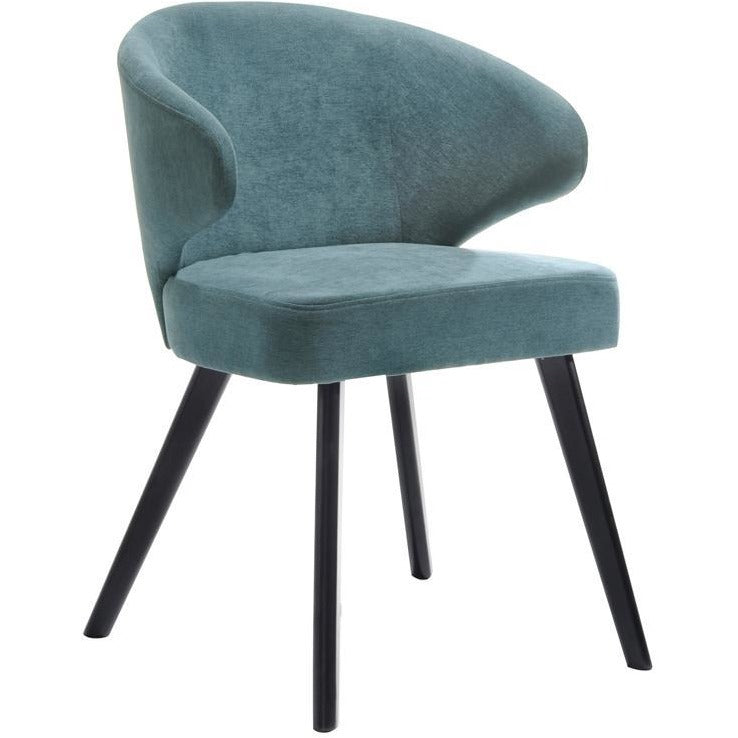 Annika Dining Chair - Teal + Black