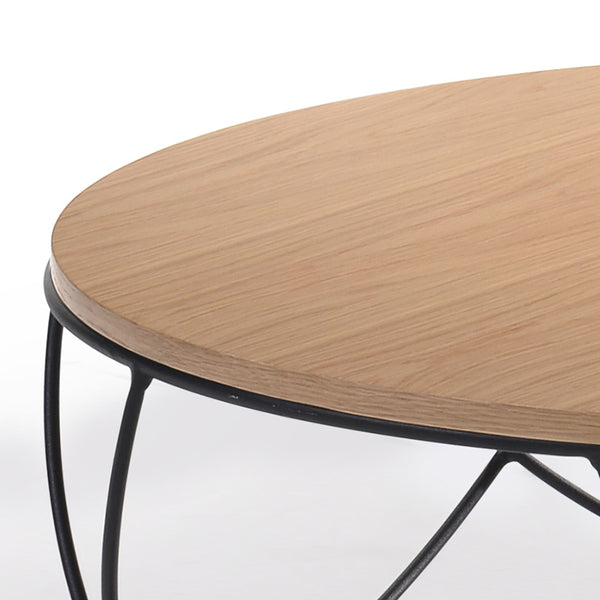 Anya Round Coffee Table 80cm Natural Modern Furniture