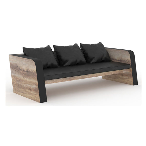 FRANCO Three Seater Sofa - Mahogany Black