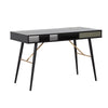 OMARI Study Desk 117cm - Black & Green