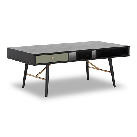 OMARI Coffee Table 117cm - Black & Green