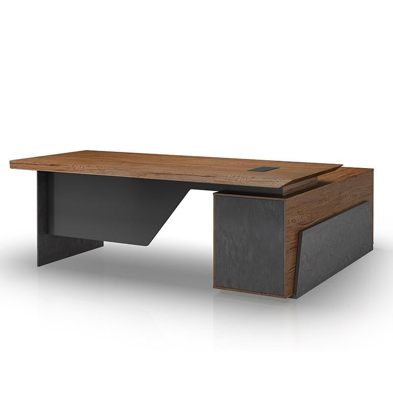 HAMLIN Executive Office Desk with Left Return 2.2M - Tobacco