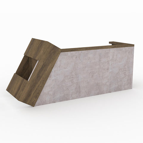 QUADE Reception Desk Right Panel - Brown Oak Color