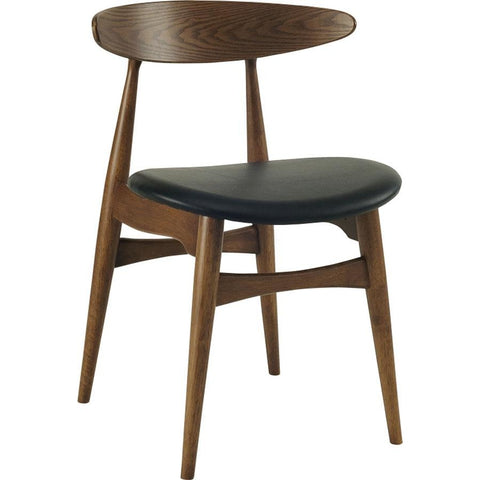 Tricia Dining Chair - Walnut + Black