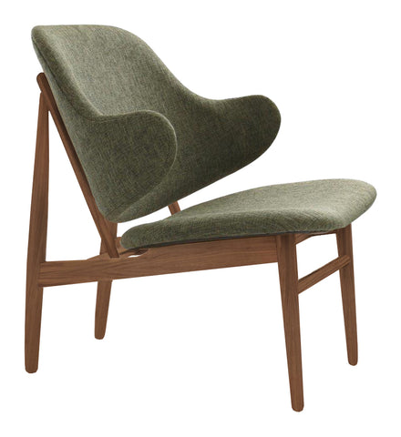 Veronic Lounge Chair Walnut & Forrest Fabric