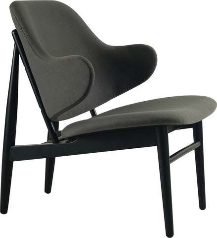 Veronic Lounge Chair in Grey Fabric
