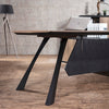 EASTON Executive Office Desk with Right Return 2.2M - Mahogany Black