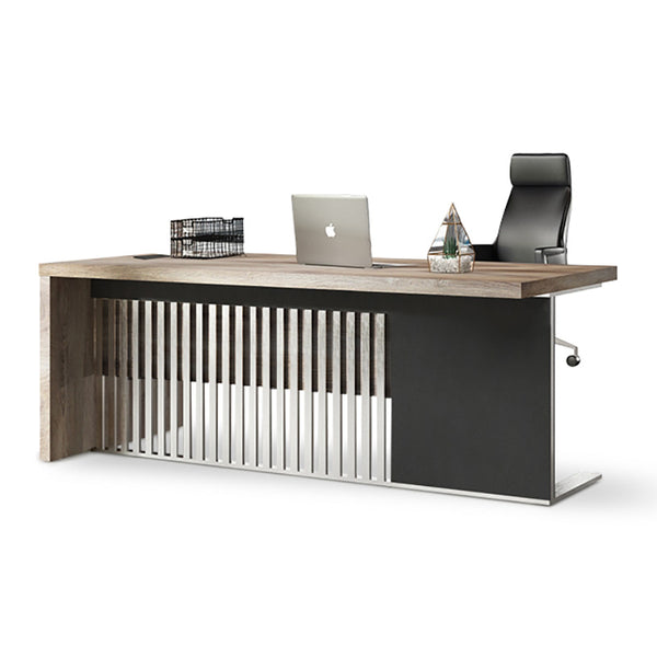 AFTAN Executive Office Desk with Mobile Right Return 1.8M - Mahogany Black