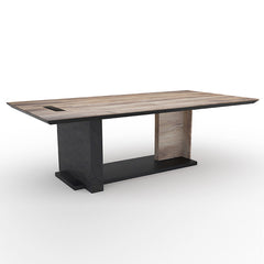ZEA Boardroom Table 2.4M - Mahogany Black