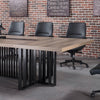 VIDAL Boardroom Table 3.6M - Mahogany Black