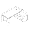 PARKER Executive Office Desk with Left Return 1.8M - Tobacco