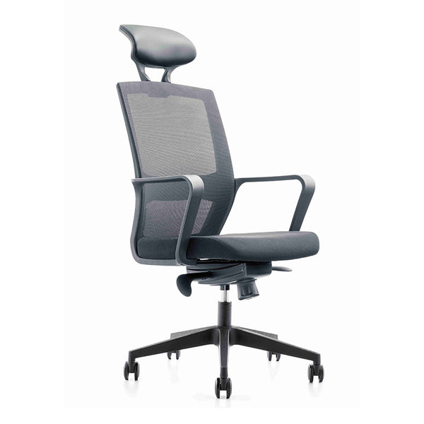 Argo Executive Office Chair with Headrest - Black