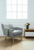 Wagon Lounge Chair - Pale Silver - Royaal Range