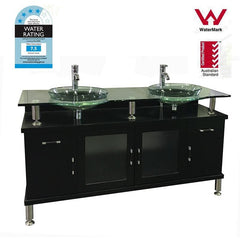 Double Black Bathroom Vanity