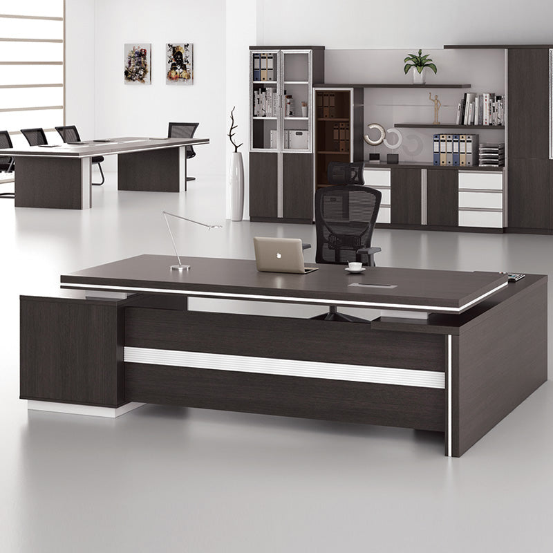Modern Office Furniture Melbourne: Xander Executive Office Desk + Right Return