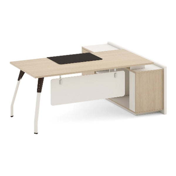 NESTOR Executive Office Desk with Left Return 160m - Ivory