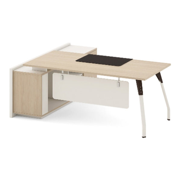 NESTOR Executive Office Desk with Right Return 160cm - Ivory