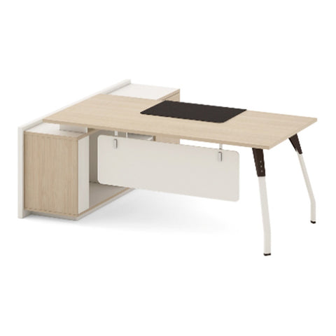 NESTOR Executive Office Desk with Right Return 180cm - Ivory