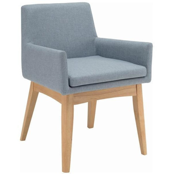 Maya Dining Armchair - Oak + Aquamarine