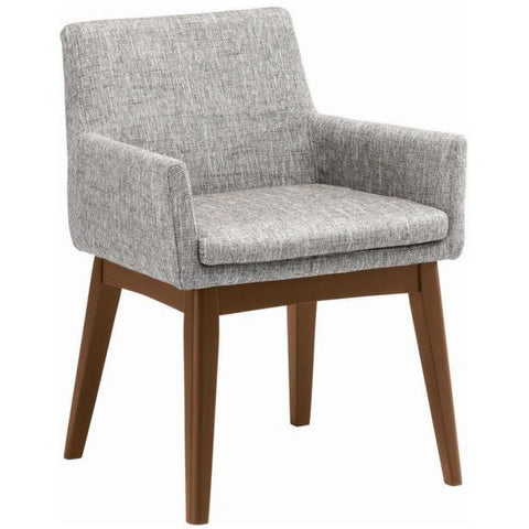 Maya Dining Armchair - Cocoa + Pebble Grey