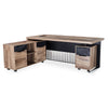 AFTAN Executive Office Desk with Left Mobile Return 1.8M - Mahogany Black
