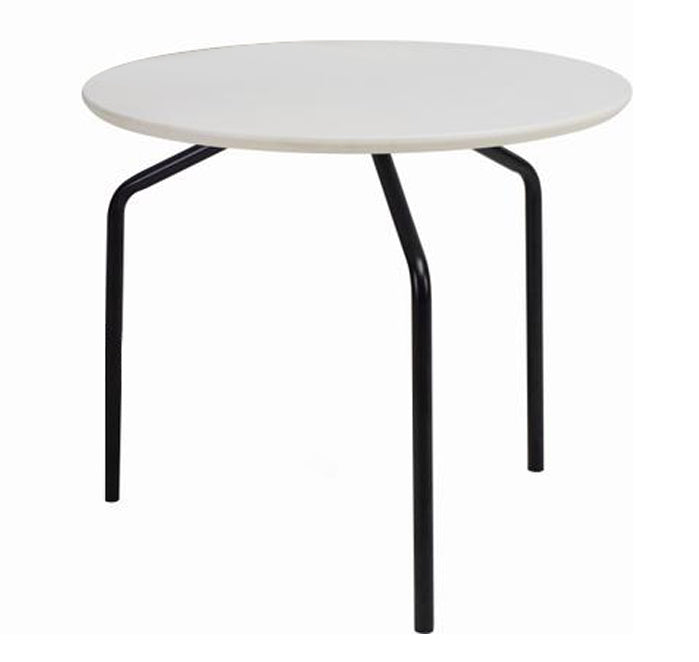 Steel Coffee Table Legs Brisbane: Stan Side Table - Black + White