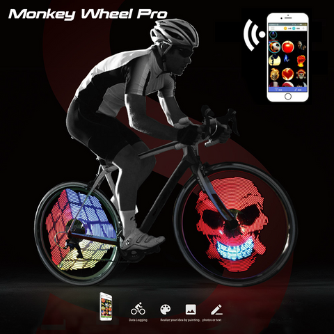 Monkey Wheel Pro - Fully Programmable LED Wheel Display [iPhone or Android]