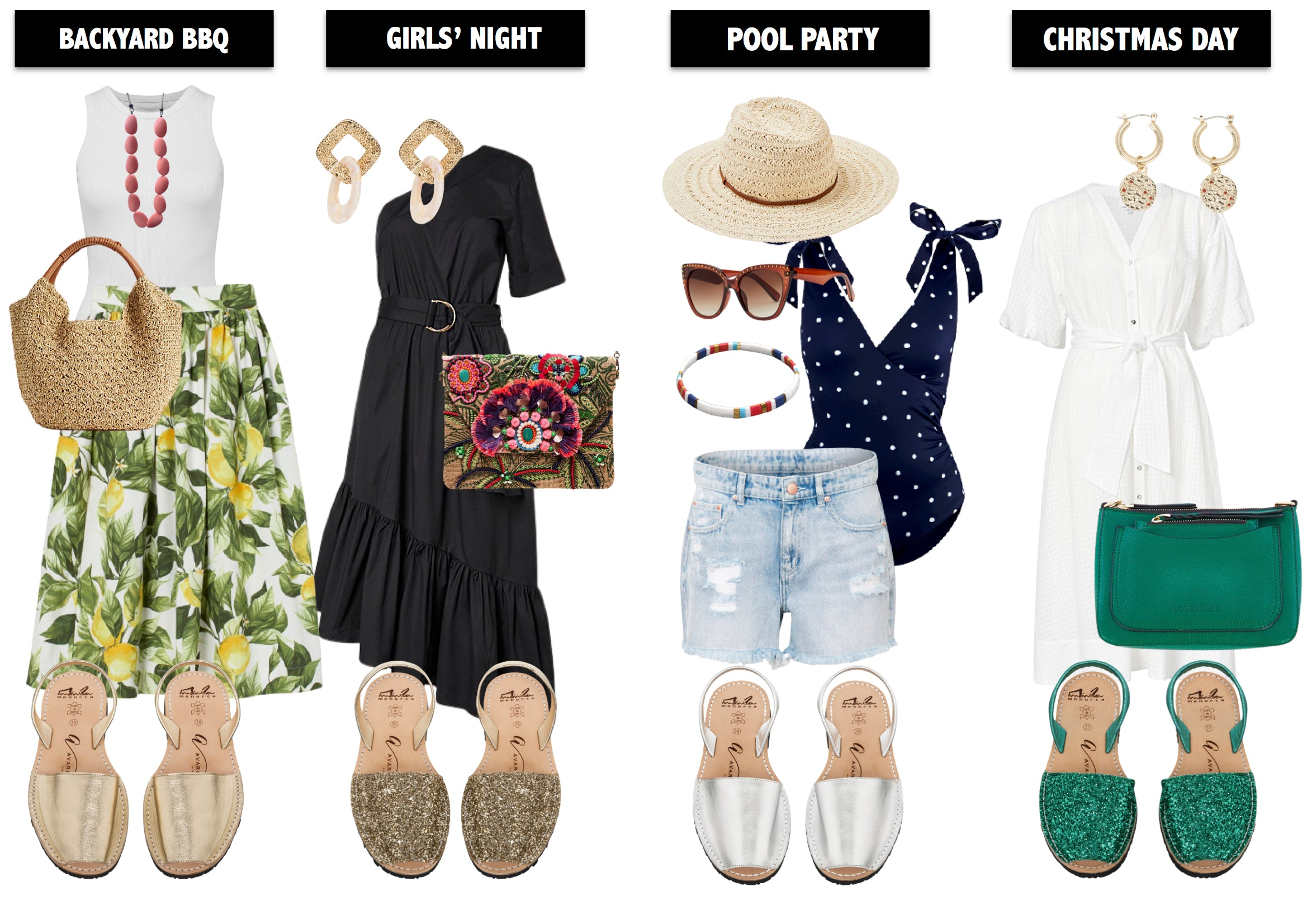 Four outfits perfect for summer parties