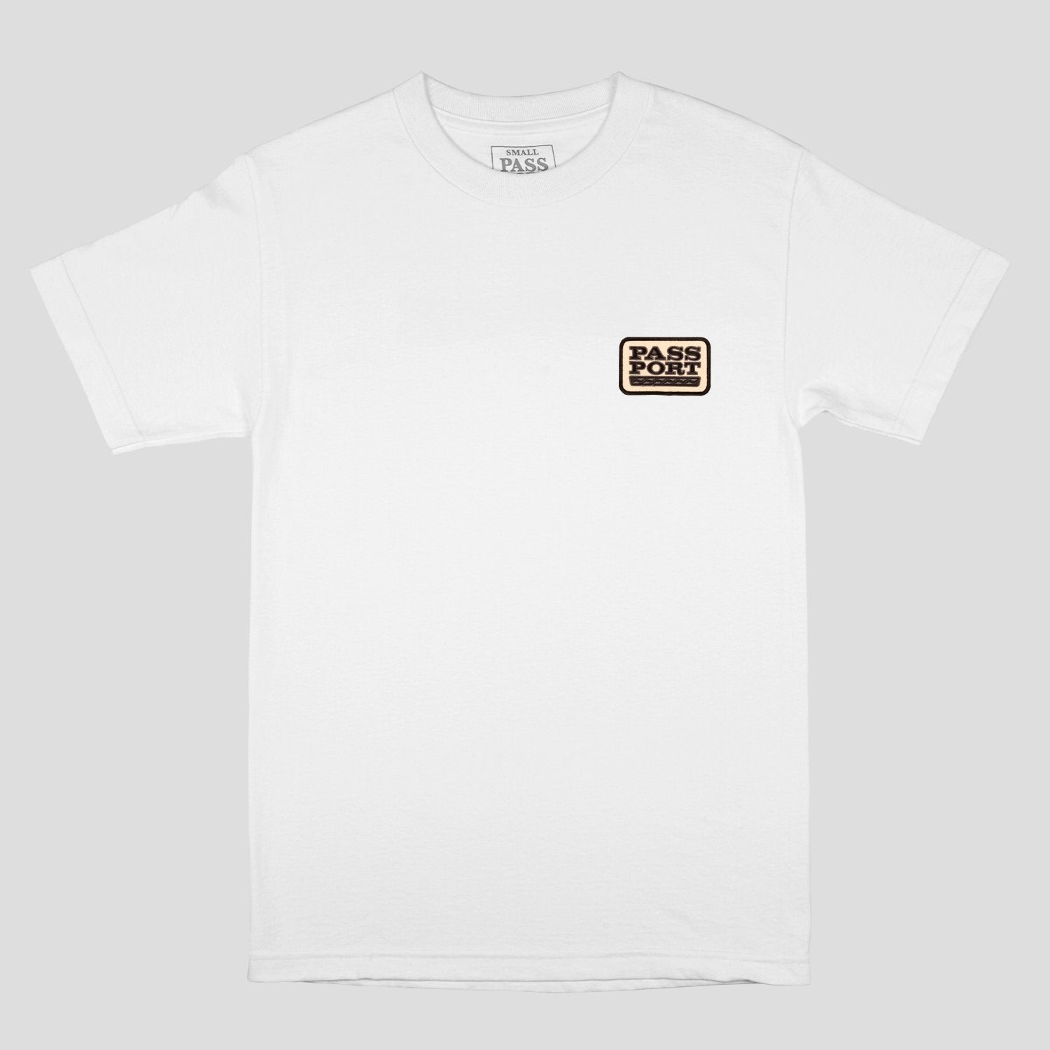 "PASS~PORT ""AUTO"" PATCH TEE WHITE"