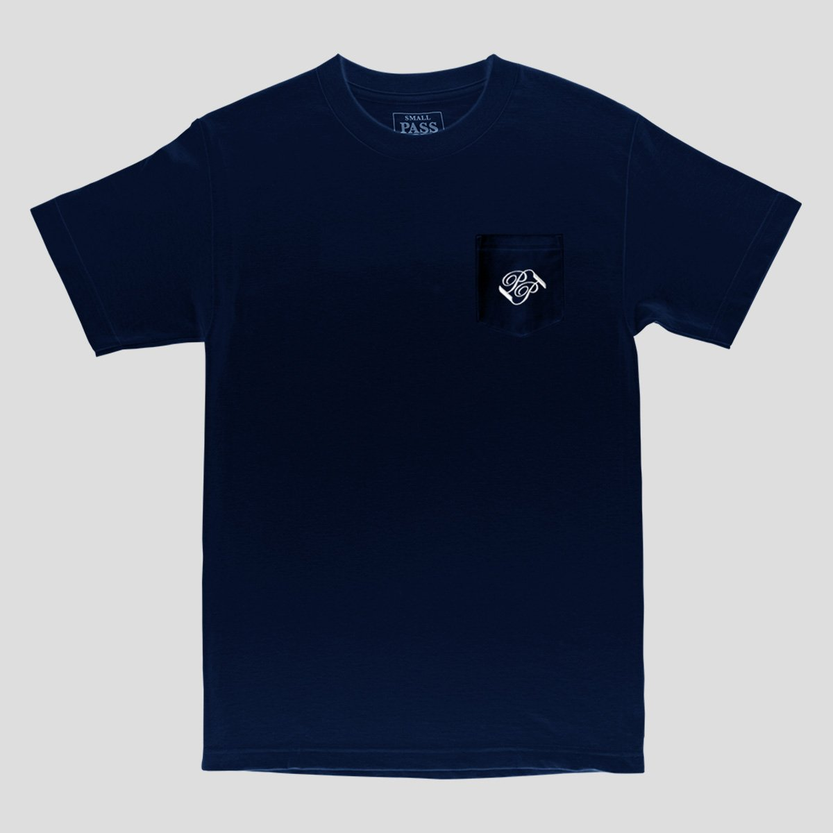 "PASS~PORT ""BANNER"" POCKET TEE NAVY"